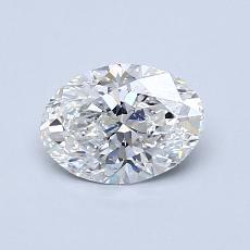 0.75-Carat Oval Diamond Very Good F VS1