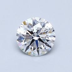 0.80-Carat Round Diamond Ideal D VS1