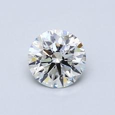 所選擇的鑽石: 0.61 克拉圓形切割鑽石