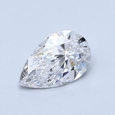 0.70-Carat Pear Diamond Very Good D SI2