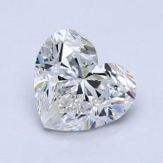 1.01-Carat Heart Diamond Good F SI1