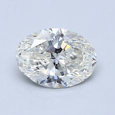 1.00-Carat Oval Diamond Very Good J SI1