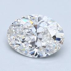1.51-Carat Oval Diamond Very Good H SI1