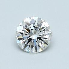 0.70 Carat ラウンド Diamond アイデアル E VVS2