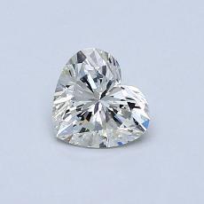 Pierre recommandée n°3: Diamant taille cœur 0,41carat