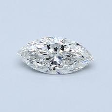 Pierre recommandée n°1: Diamant taille princesse 0,35 carat