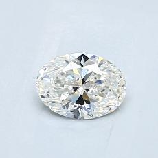 0.51 Carat 橢圓形 Diamond 非常好 G VS1