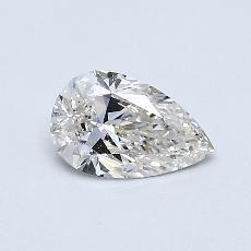 0.40 Carat 梨形 Diamond 非常好 I VS2