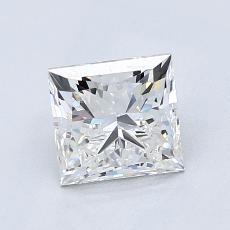 推薦鑽石 #4: 1.30  克拉公主方形鑽石