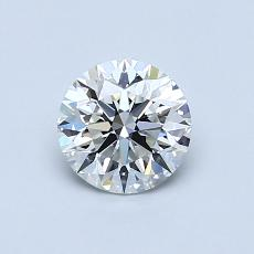 0.71-Carat Round Diamond Ideal H VVS1