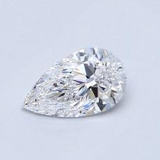 Recommended Stone #1: 0.51-Carat Pear Cut Diamond