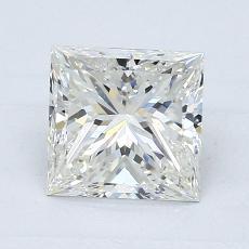 Pierre recommandée n°3: Diamant taille princesse 1,21 carat