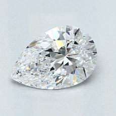 1.02 Carat 梨形 Diamond 非常好 D VVS2