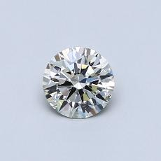Piedra recomendada 3: Diamante de talla redonda de 0.40 quilates