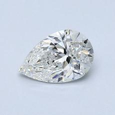 0,70-Carat Pear Diamond Very Good F VVS1