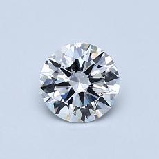 0.51 Carat 圆形 Diamond 理想 D VVS1