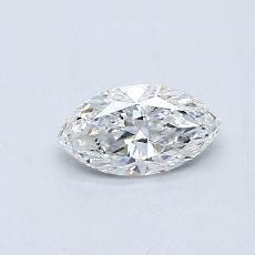 Pierre recommandée n°3: Diamant taille princesse 0,37 carat