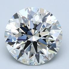 3.00 Carat 圆形 Diamond 理想 J SI1