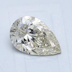 所選擇的鑽石: 1.00 克拉梨形鑽石