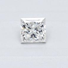 Recommended Stone #2: 0.30-Carat Princess Cut Diamond