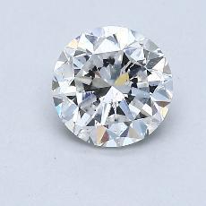 0.90 Carat 圓形 Diamond 良好 E SI2