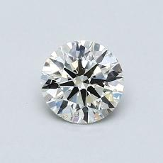0.50-Carat Round Diamond Ideal K SI2