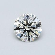 0,50 Carat Rond Diamond Idéale K SI2