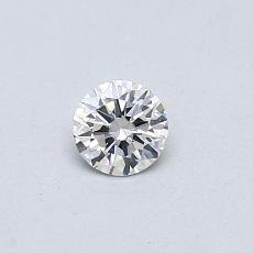 Piedra recomendada 2: Diamante redondo de0.25 quilates