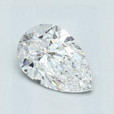 1,01-Carat Pear Diamond Very Good D VVS1