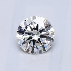 0.70-Carat Round Diamond Ideal F VS1