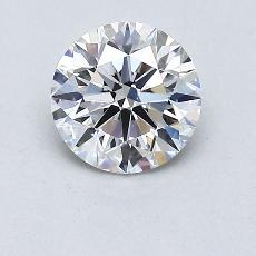 0,80-Carat Round Diamond Ideal E VS1