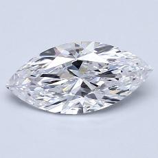1,02-Carat Marquise Diamond Very Good D IF