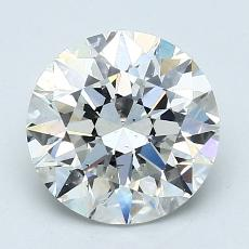 2.01-Carat Round Diamond Ideal I SI1