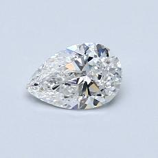 0.50-Carat Pear Diamond Very Good E VS1