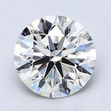 2.01-Carat Round Diamond Ideal H VVS1