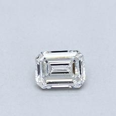 0.30-Carat Emerald Diamond Very Good F VVS1