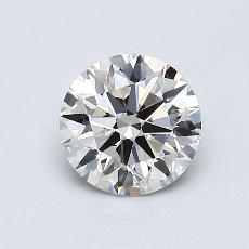 0,71-Carat Round Diamond Ideal J VS1