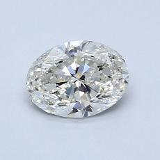 0.79 Carat 橢圓形 Diamond 非常好 I SI1
