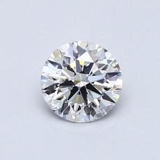 0,60-Carat Round Diamond Ideal E FL