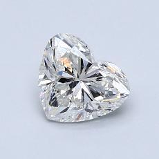 Piedra recomendada 3: Diamante con forma de corazón de 0.90 quilates