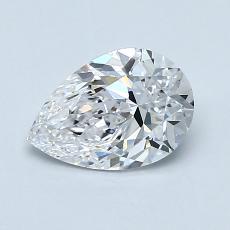 1.00-Carat Pear Diamond Very Good D VVS1