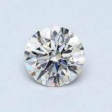 0.76 Carat 圆形 Diamond 理想 F VS2