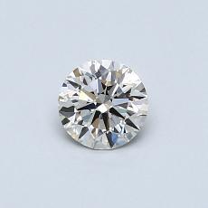 0.40-Carat Round Diamond Ideal K VVS1