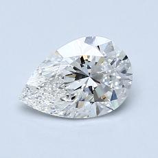 推荐宝石 1:0.90 克拉梨形切割钻石