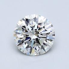 1.10-Carat Round Diamond Ideal I SI1