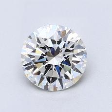 推荐宝石 4:1.00克拉圆形切割钻石