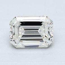1.00-Carat Emerald Diamond Very Good I VS1