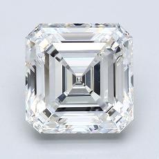 3.50-Carat Asscher Diamond Very Good E VS1