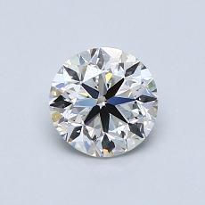 0,75 Carat Rond Diamond Idéale E VVS1