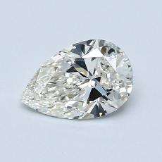 0.72-Carat Pear Diamond Very Good J VVS2